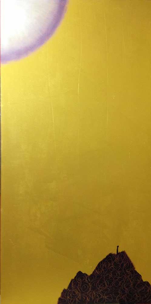 Legno dorato  cm 120  x 60  - 2013