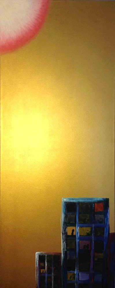 Olio su tela  cm 100  x 40  - 2013