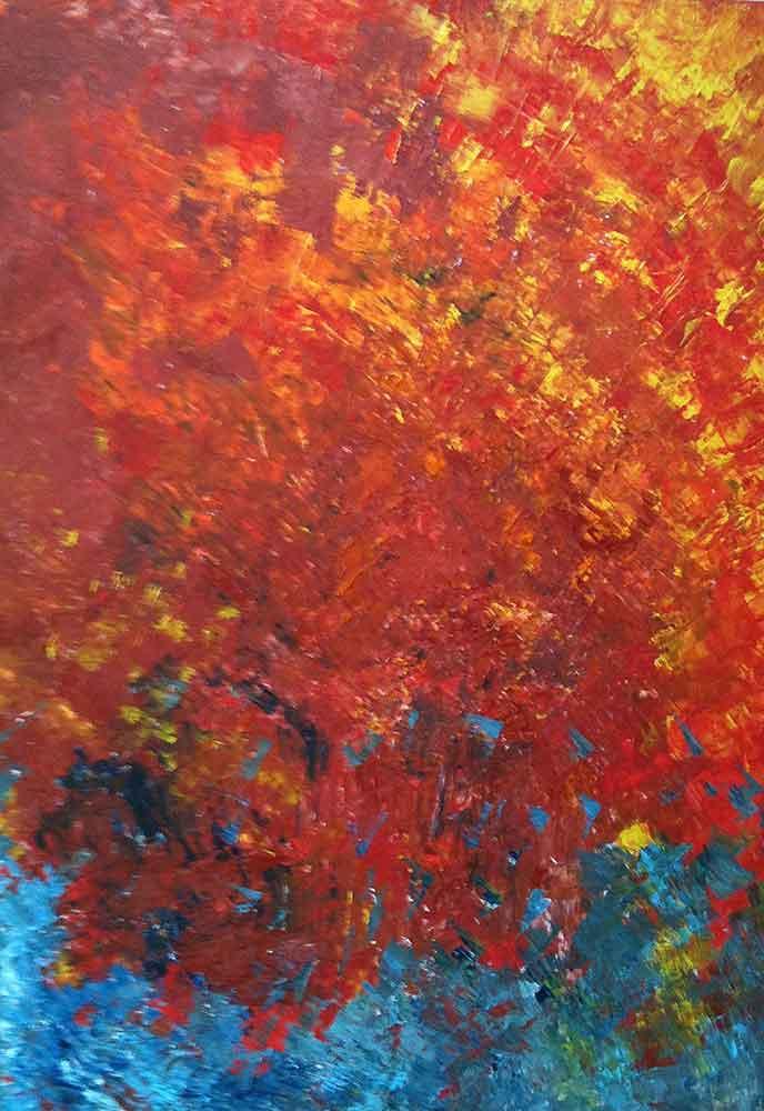 Olio su tela  cm 100  x 70  - 2010  - (in onore di Franco Battiato) - <span class='venduta'> Collezione privata</span>