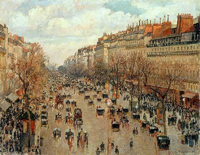 Camille Pissarro - 1897 - Boulevard Montmartre, Matin d'Hiver